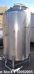 Used- Tetra-Pak Tank, Approximate 400 Gallon, Stainless Steel, Vertical.