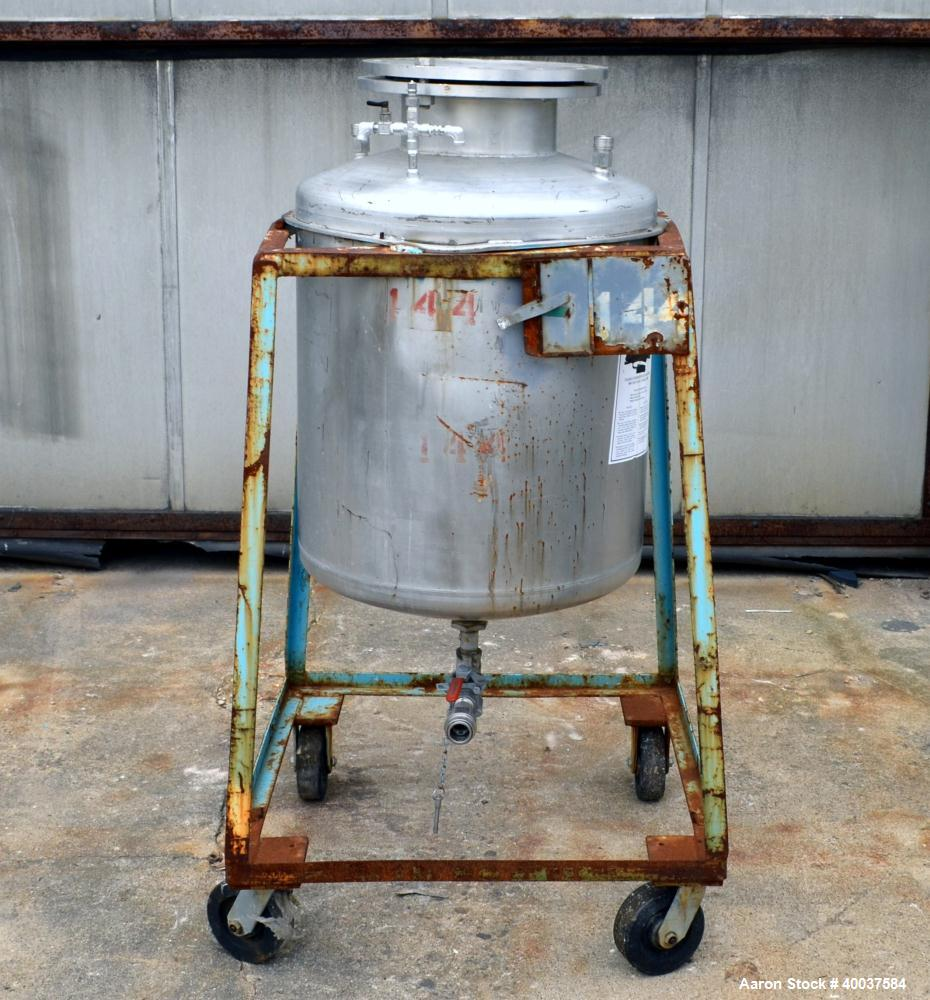 Used- 55 Gallon Stainless Steel O.G. Kelley Co. Pressure Tank