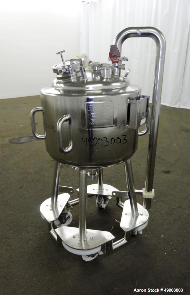 Used- Precision Stainless Pressure Tank, 50 Liters (13.2 Gallons).