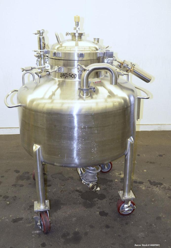 Used- Precision Stainless Pressure Tank, 80 Gallon