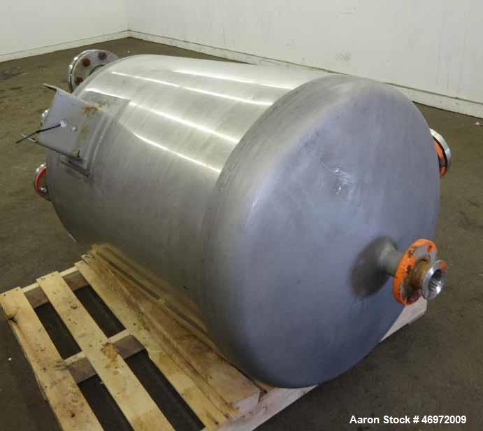 Used- Precision Stainless 316 Stainless Steel 100 Gallon Vertical Tank,