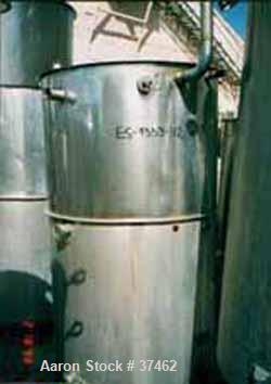 """USED: Sani Tank, 300 gallon, stainless steel, vertical. 38"""" diameter x 60"""" straight side. Flat open top with 1/2 hinged cove..."""