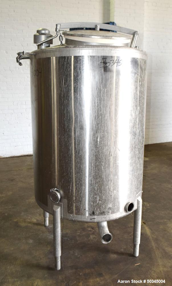 Used- Scherping Systems Tank, 200 Gallon, Model C2552A, Stainless Steel, Vertica