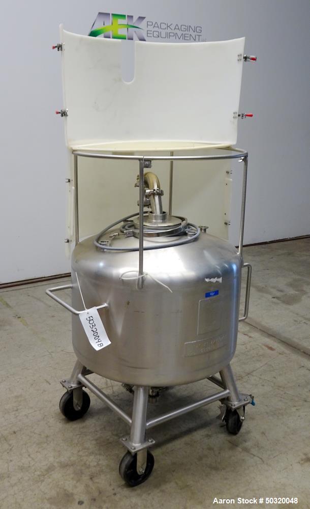 Used- Sharpsville Pressure Mix Tank, 200 Liter, 316L Stainless Steel