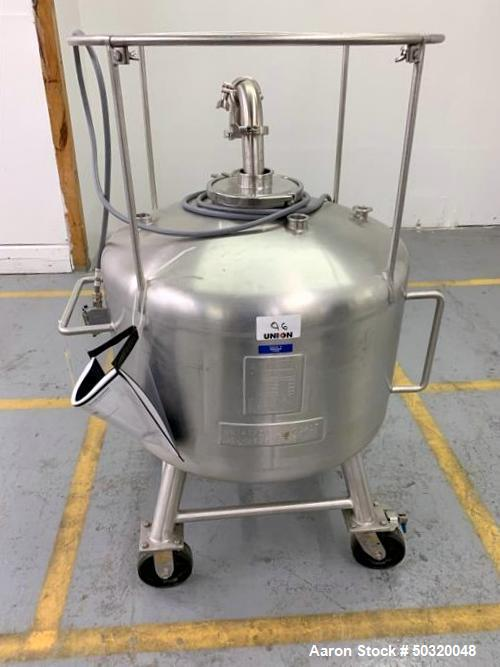 Used-Sharpsville Container Corp 200 liter Pressure Vessel Tank- 200 liter 316L Stainless Steel- Pressure Vessel Tank- Bottom...