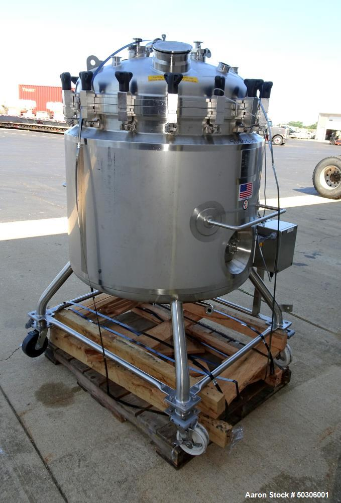 Used- Stainless Steel Fabrication Inc Approximately 100 Gallon Pressure Tank