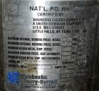 Used-  Cherry-Burrell Pressure Tank, 200 Liter (52 Gallon), 316L Stainless Steel, Vertical. Approximate 24