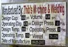 Used- Thibs Machine & Welding Tank, 438 Gallon, 316 Stainless Steel, Vertical. Approximate 42