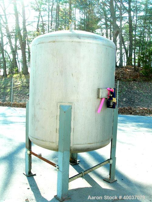 "Used: Tri-Angle Welding pressure tank, 400 gallon, model VT-48-48, stainless steel, vertical. 48"" diameter x 48"" straight si..."