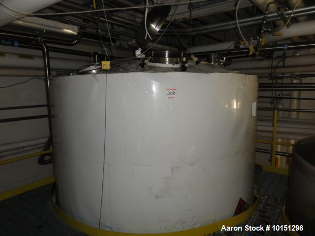 Used Watson Metal Masters 3,000 Gallon, Jacketed Tank