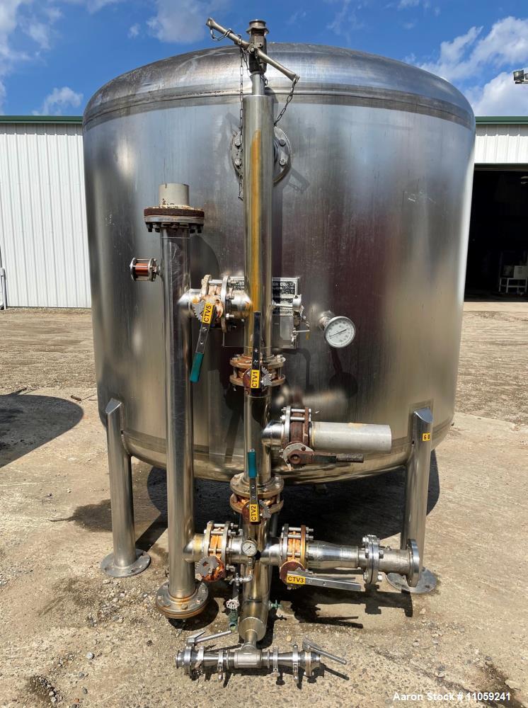 Used-Western Filter 2,000 Gallon 316 Stainless Steel Pressure Vessel