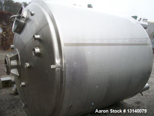 Used- 2000 Gallon (approximately), Sanitary 316 Stainless Steel Insulated Tank
