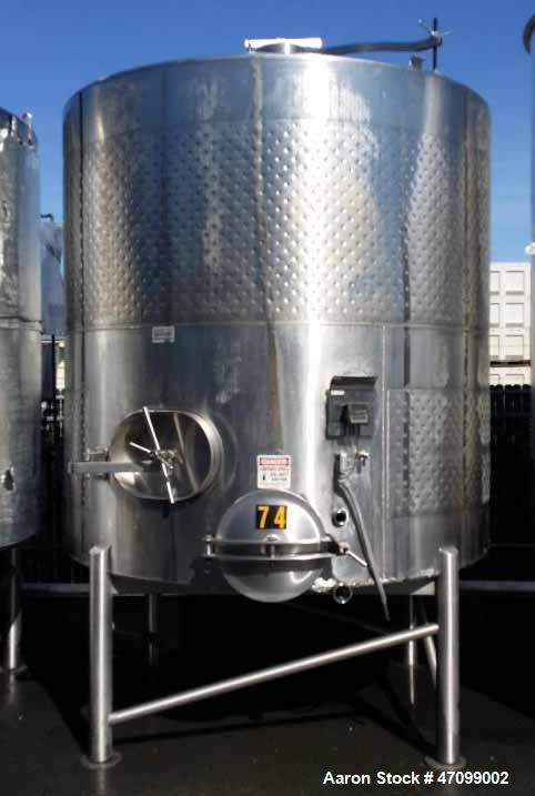 Used Approx 3000 Gallon Stainless Steel Jackete