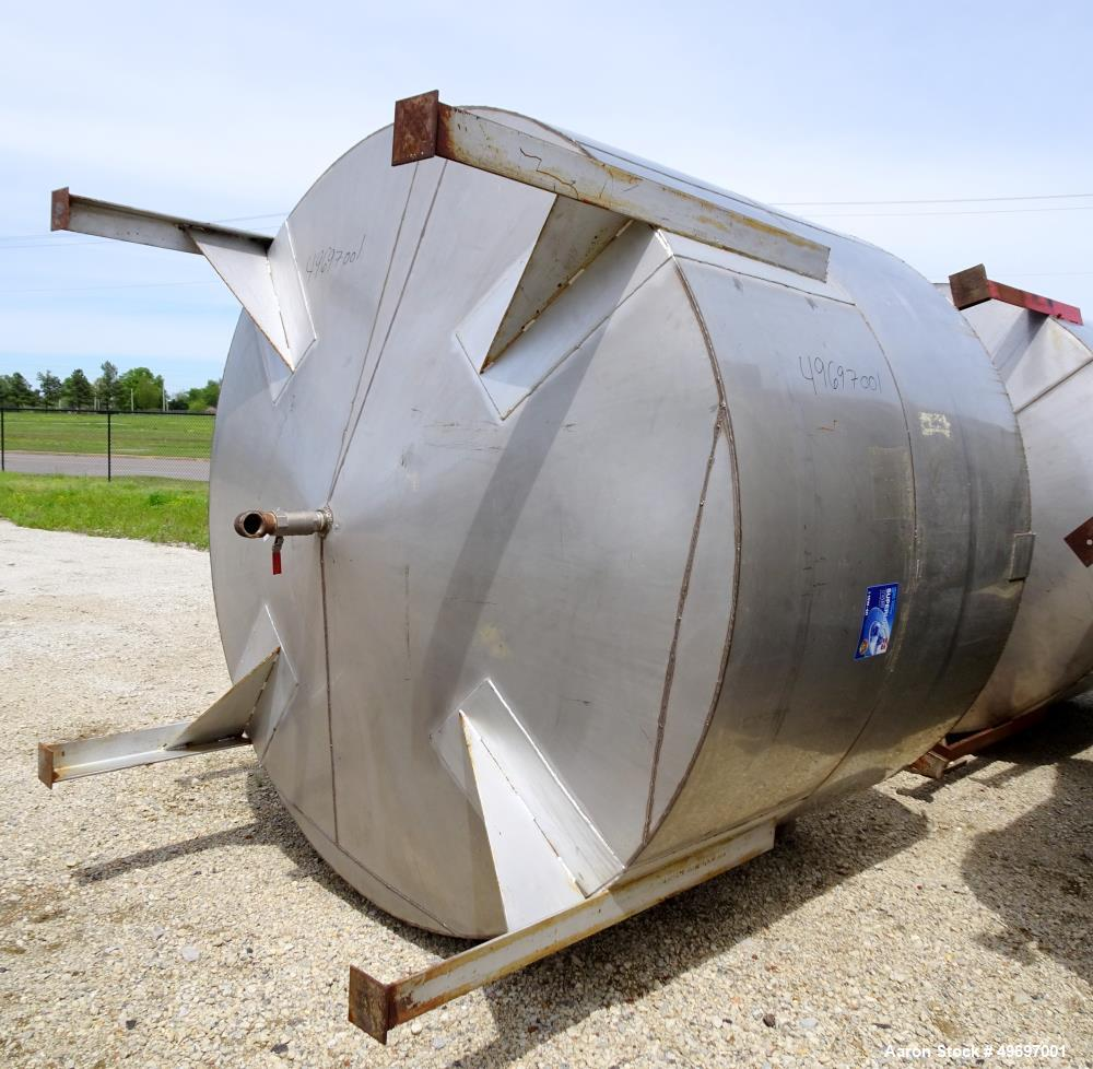 Used- Tank, Approximate 2400 Gallon, Stainless Steel, Vertical