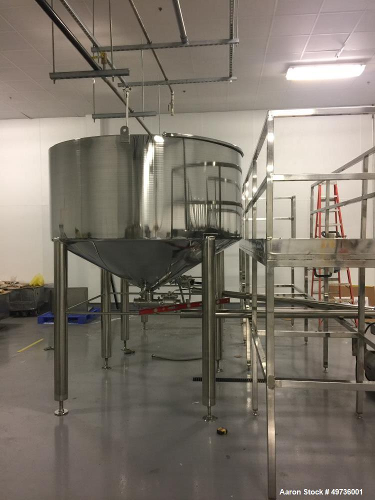 Used- 1,000 Gallon Stainless Steel Tank.