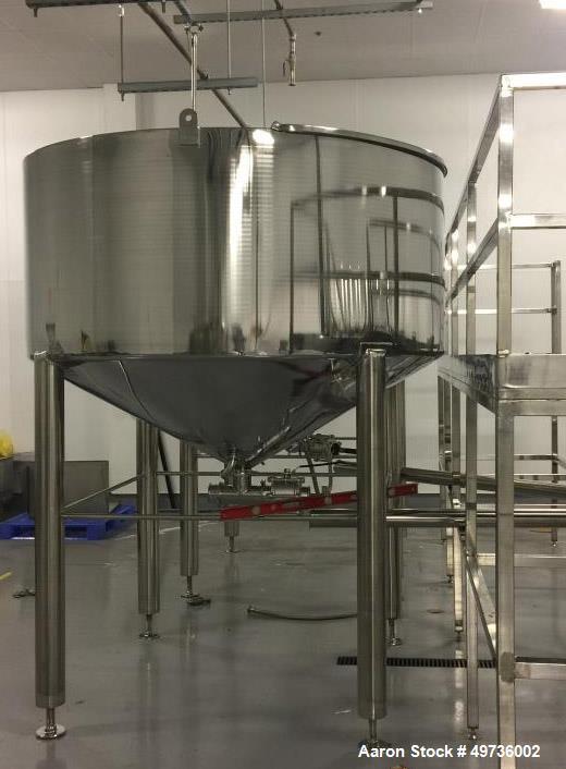Unused Kunbo 4,000 Liter Stainless Steel Mixing Tank