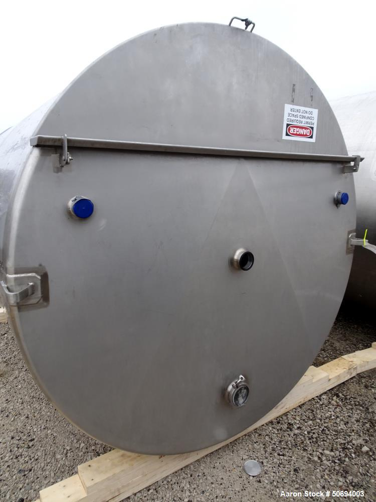 Used- Tank, 2300 Gallon, 316 Stainless Steel, Vertical.