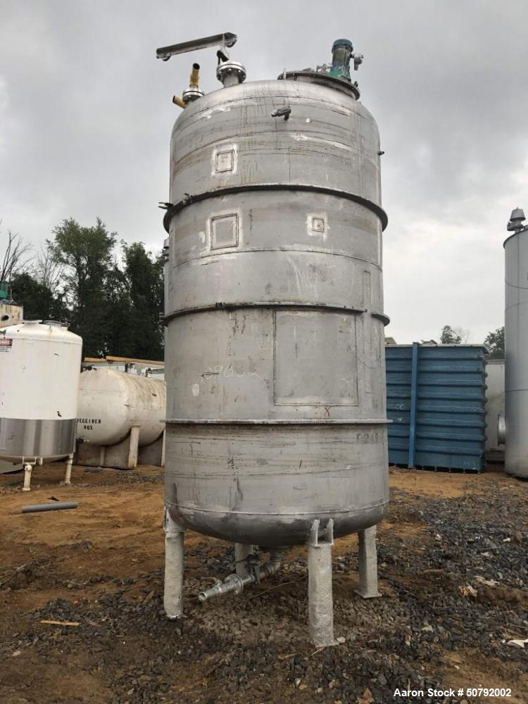 Used- 2350 Gallon Stainless Steel Mixing Tank