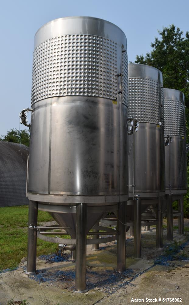 UNUSED- Criveller Ganimede Wine Fermentation Tank, 5.5 Ton Capacity, 1,200 Gallo