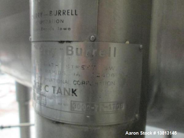 """Used-Cherry Burrell Stainless Steel Tank with type C side agitator, 9'6"""" straight wall, 84"""" diameter, 12' overall length, do..."""