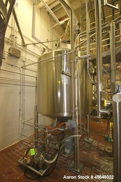 Used- 1000 Gallon Stainless Steel Single Wall Tank