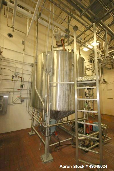 Used- 2000 Gallon Stainless Steel Single Wall Tank