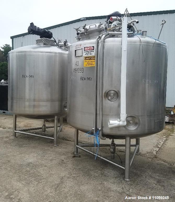 Used-JV Northwest 1200 Gallon (4500 Liter) Sanitary Jacketed Mix Tank