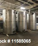 Used- 2000 Gallon (approximately) Vertical T304 Stainless Steel Storage Tank