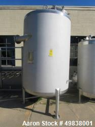 Used-Lee Industries Model 1100DBT  304L Stainless Steel.Single Wall Tank,1100 gallon capacity. Approx. 5 dia. X 7 straight s...