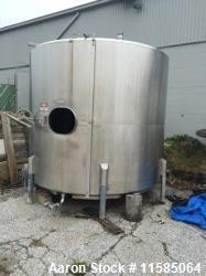 Used- Approx. 3500 Gallon Stainless Steel Sanitary Vertical Tank