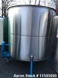 Used- 2000 Gallon Vertical Stainless Steel Mix Tank