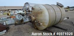 Used- Tank, Approximate 1000 Gallon, 321 Stainless Steel, Vertical.