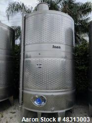 Used CAI 3100 Gallon Stainless Steel Fermentation Tank