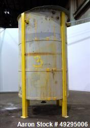 Used- Tank, Approximate 2,500 Gallon, 304 Stainless Steel, Vertical