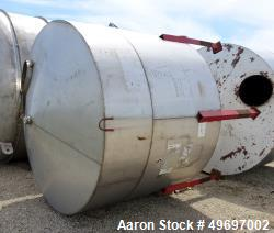 Used- Tank, Approximate 2250 Gallon, Stainless Steel, Vertical.