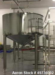 Unused Kunbo 4,000 Liter Stainless Steel Mixing Tank