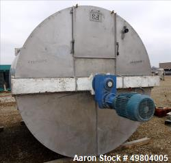 "Used -Bright Sheet Metal Tank, Approximately 4,000 Gallon, 304 Stainless Steel,  Approximately Vertical. 100"" diameter x 120..."