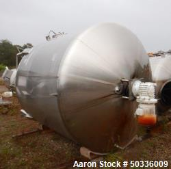 "Used- Cherry Burrell Mix Tank, Approximately 1,700 Gallon, Stainless Steel. Approximate 84"" diameter x 75"" straight side, di..."