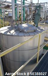 "Used- Andy J. Egan Jacketed Tank, Approximate 1500 Gallon, 316L Stainless Steel, Vertical. Approximate 72"" diameter x 84"" st..."