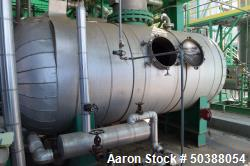 Used- Pro-Fab Distillation Reboiler Pressure Tank, Appproximate 1700 Gallon, 304 Stainless Steel, Horizontal. Approximate 60...