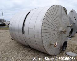 "Used- Andy J. Egan Tank, Approximate 3500 Gallon, 304L Stainless Steel, Vertical. Approximate 96"" diameter x 108"" straight s..."