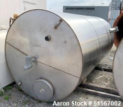 Used- 2,500 Gallon, Stainless Steel Tank