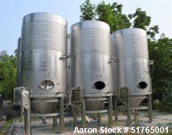 Used- Criveller Ganimede Fermentation Tank, 5.5 Ton Capacity, 1,200 Gallon. Stainless Steel, Vertical. Vessel approximate 60...