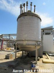 Used-Tank, Stainless steel, Approximately 1,200  Gallon, 5' diameter x 8', Dished heads. s/n 348, Yr. 1995.