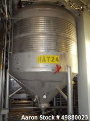 Used-Alfa Laval tanks, type ZKH Capacity 13700 liter (3624 gallon), 316 stainless steel. Rated for 3 bar (45 PSI) at 20 deg ...