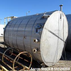 Apache Stainless Equipment, Tank, 3,000 Gallon, Stainless steel.  8' diameter x 10' high, Veritcal. Flat Top, Pitched Bottom...
