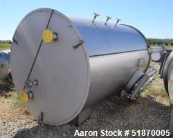 """Unused- Apache Stainless Tank, 2263 Gallon, 304L Stainless Steel, Vertical. 72"""" Diameter x 120"""" straight side, flat top, con..."""