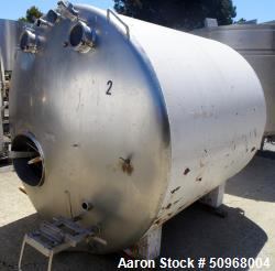 Used- Blackburn Stainless Products Dairy Tank, Approximately 1,000 Gallon