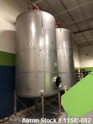 Used- 2200 Gallon (Approximately) Vertical Stainless Steel Tank