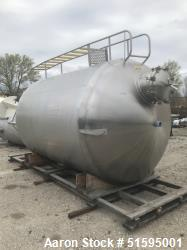 Used- Cherry Burrell 2,500 Gallon Jacketed Tank